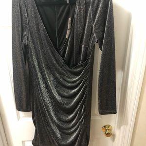 V-Neck shimmer sheath dress size 16